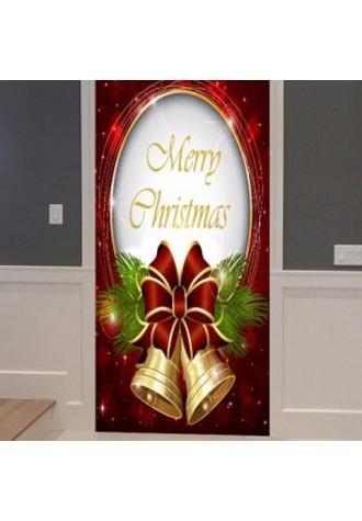 Christmas bell pattern door pocket sticker