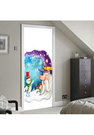 Moon old man design environmental friendly removable door sticker