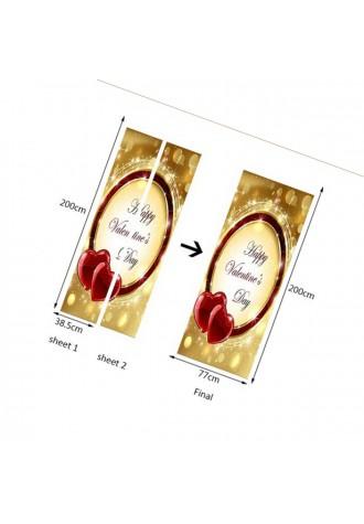 Valentine's Day heart-shaped door ring Art Sticker