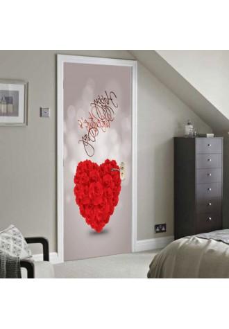 Happy Valentine's Day logo doorcase sticker