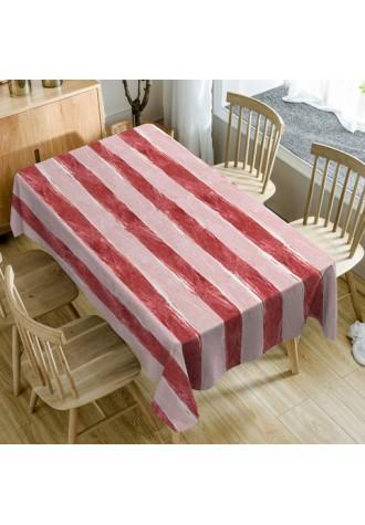 Meat pattern waterproof tablecloth
