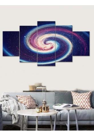 Spiral star frameless mural