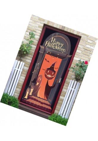 Halloween Pumpkin ghost print decorative door sticker