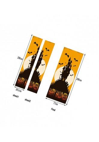 Halloween party bat Castle printed decorative door sticker