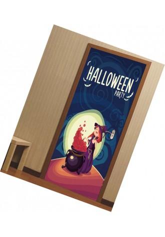Halloween Witch printed door Art Sticker