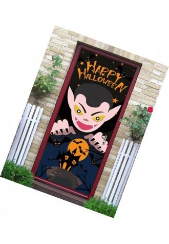 Halloween Vampire Bat printed door Art Sticker
