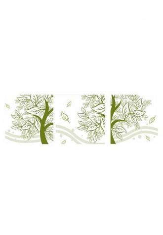 Frameless leaf print canvas