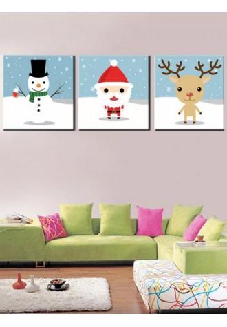 Christmas theme print frameless oil painting
