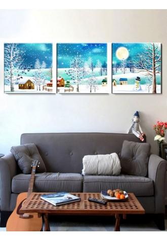 Christmas Village print frameless oil painting
