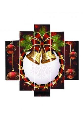 Christmas bell snow split oil painting