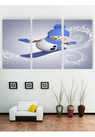 Unframed Snowman Pattern Oil Paintings
