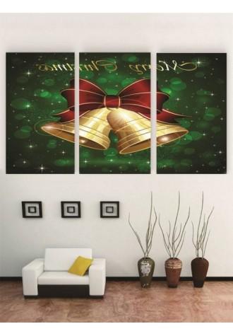Frameless Christmas bell oil painting