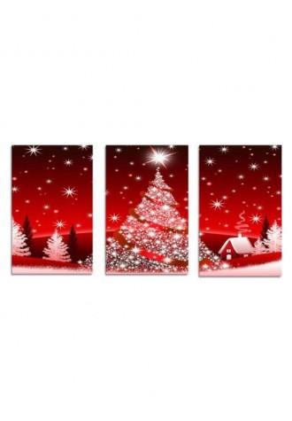 Frameless Christmas oil painting