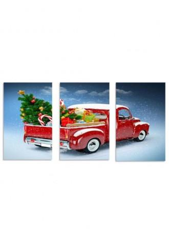 Frameless Christmas gift car canvas
