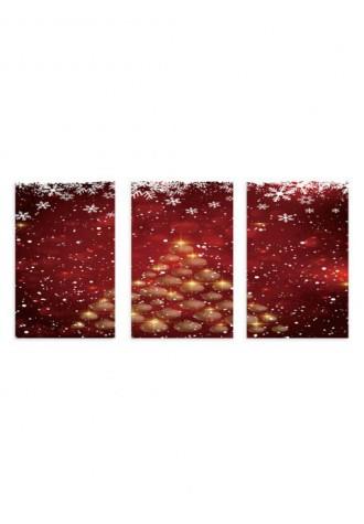 Frameless christmas snowflake canvas