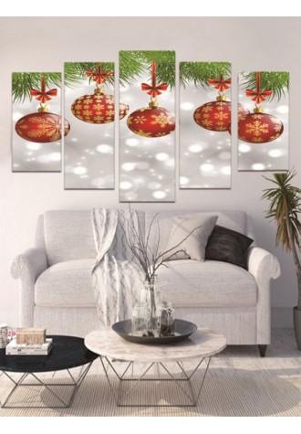 Christmas hanging ball print frameless oil painting