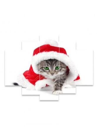 Christmas Cat print frameless oil painting