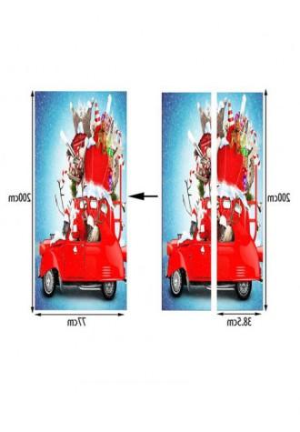 Christmas gift car printing door Art Sticker