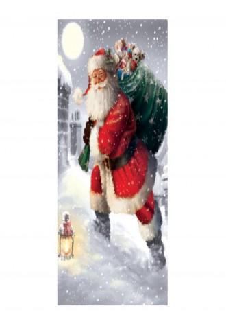 Santa Claus gift printed door sticker