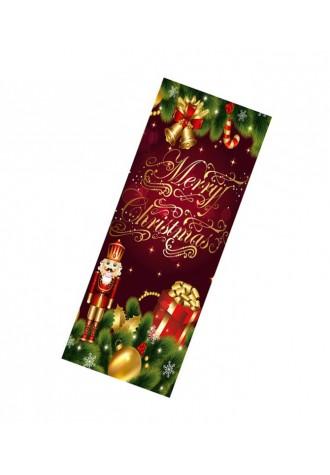 Happy Christmas King printed door sticker