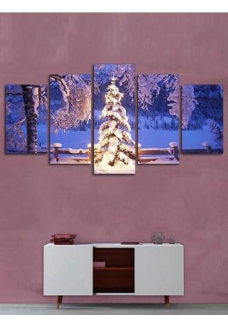 Christmas tree Print frameless canvas