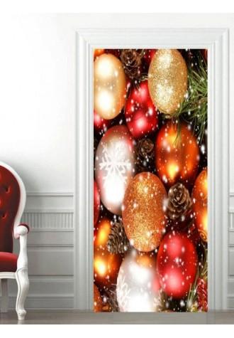 Christmas decoration printed door sticker