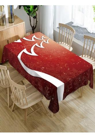 Merry Christmas tree printed waterproof tablecloth