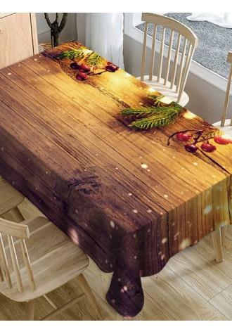 Christmas Wooden Print Fabric tarpaulin