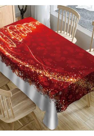 Christmas tree tablecloth