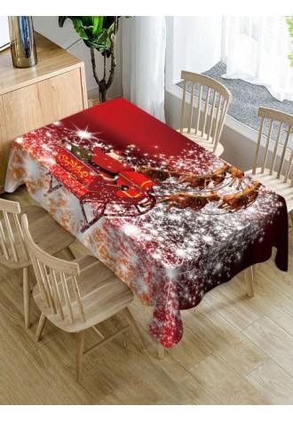 Christmas Sleigh elk printed tarpaulin