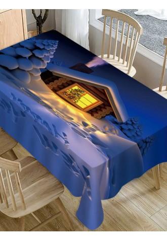 3D Christmas Snowman waterproof tablecloth