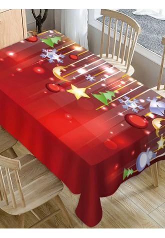 Christmas tree star moon printed tarpaulin