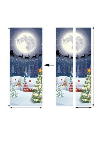 Art Sticker of printed door on Christmas Eve