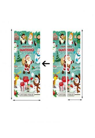 Christmas theme printed door Art Sticker