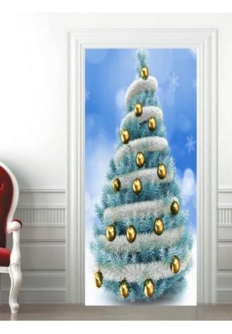 Christmas tree ball door Art Sticker