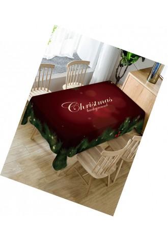 Christmas star leaf waterproof tablecloth
