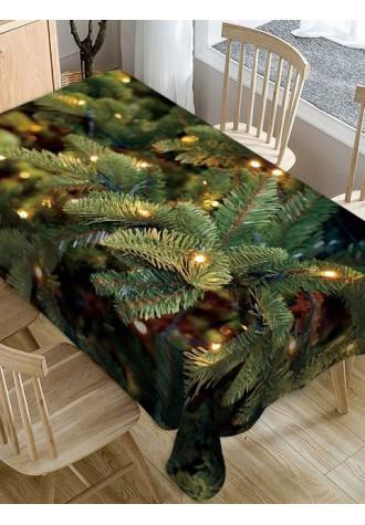 Christmas leaf waterproof tablecloth