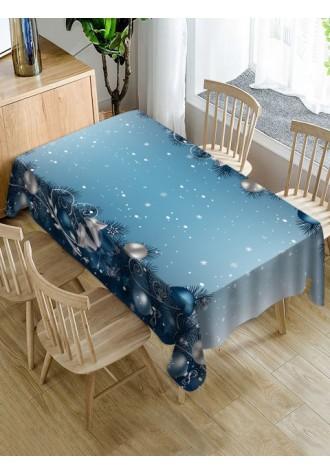 Christmas Ornament snowflake printed tablecloth