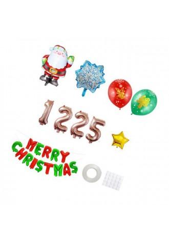 12 aluminum film Christmas Happy balloons