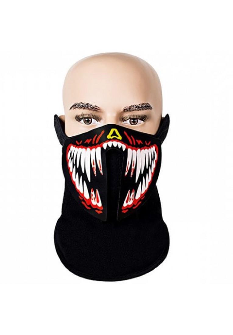 Christmas LED sound control mask
