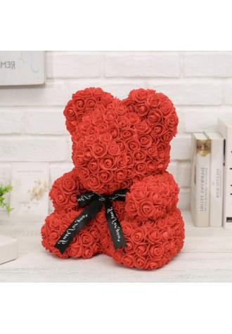 Valentine's day hand made rose bear