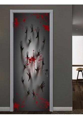 Halloween bloody ghost print decorative door Art Sticker