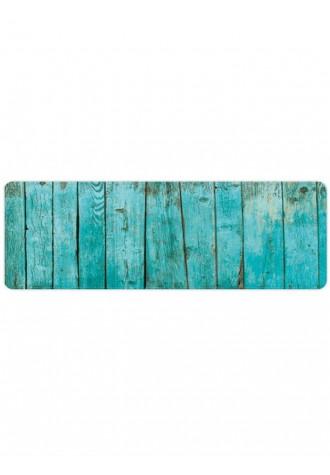 Vintage wood pattern absorbent floor carpet