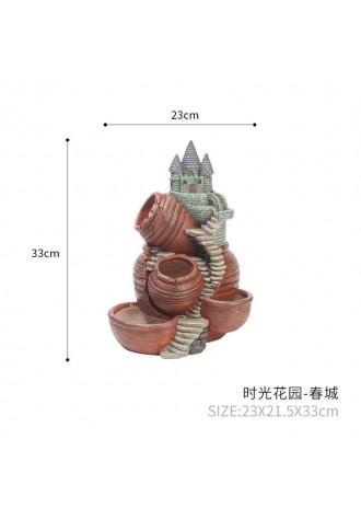 Sky garden potted landscape creative resin large fleshy flowerpot