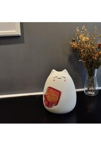 Cute big cat silicone lamp with remote control